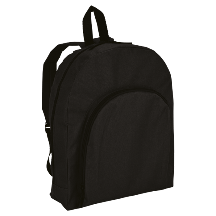 BB0041 - Backpack With Arched Front Pocket - 600D