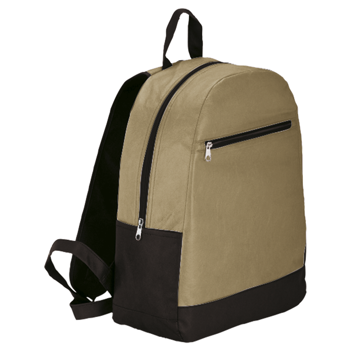 BB0040 - Backpack With Front Zip Pocket - Non-Woven