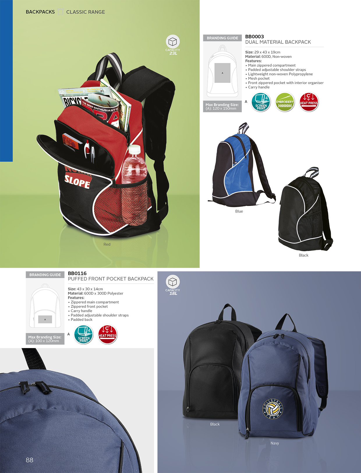 fe9dc16031bc Dual Material Backpack - 600D - Non-WovenRuggit Wear