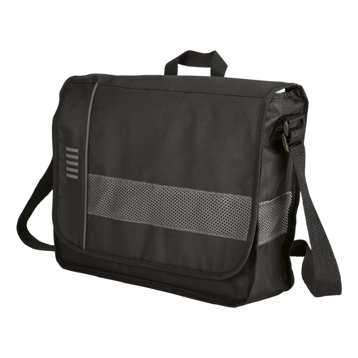 BB0038 - Messenger Bag With Mesh Trim - 600D