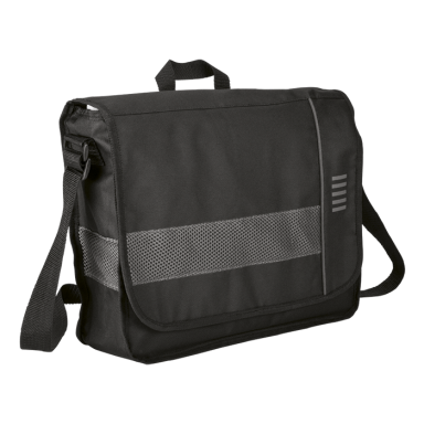 Messenger Bag with Mesh Trim - 600D