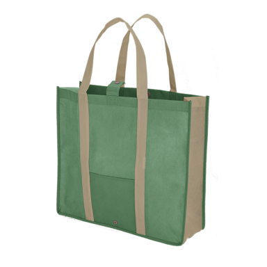 Folding Shopper With Snap Closure - Non-Woven