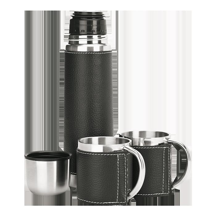 BW0014 - 500ml Steel Flask And Mug Set