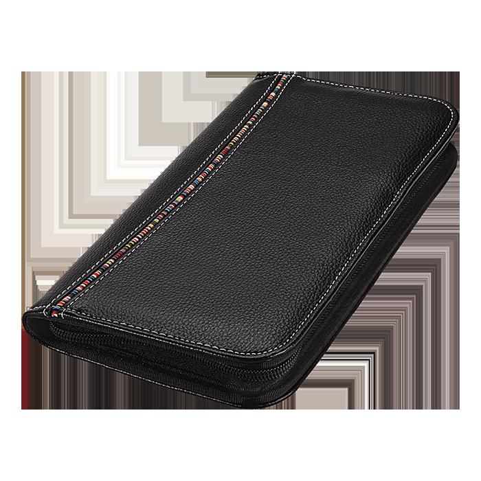 BF0025 - Tribal Stripe Zippered Passport Wallet
