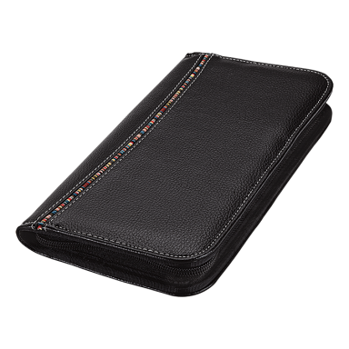 Tribal Stripe Zippered Passport Wallet