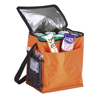 12 Can Cooler with 2 Exterior Pockets - 70D - PEVA Lining