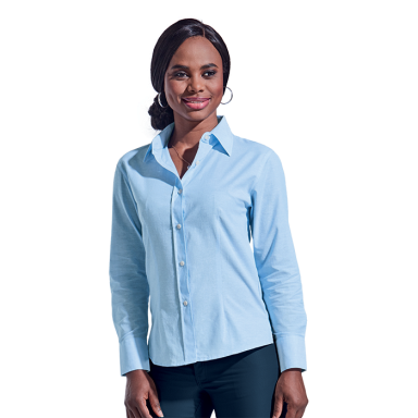 Ladies Chambray Blouse Long Sleeve