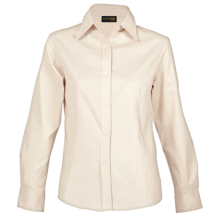 Ladies Brushed Cotton Twill Blouse Long Sleeve (LL-TWILL)