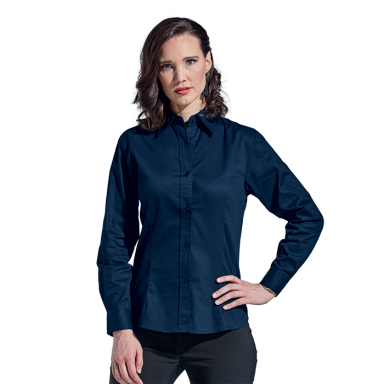 Ladies Brushed Cotton Twill Blouse Long Sleeve