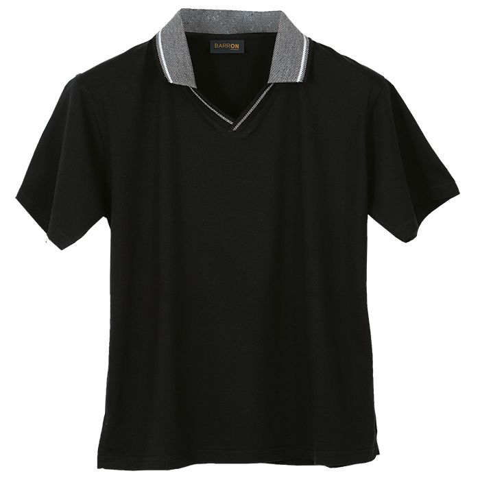 Ladies Jacquard Collar Golfer (L-GO170B)