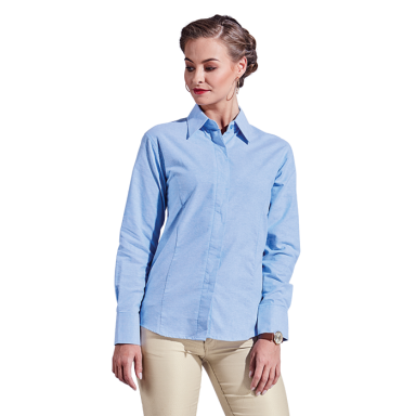 Ladies Oxford Blouse Long Sleeve