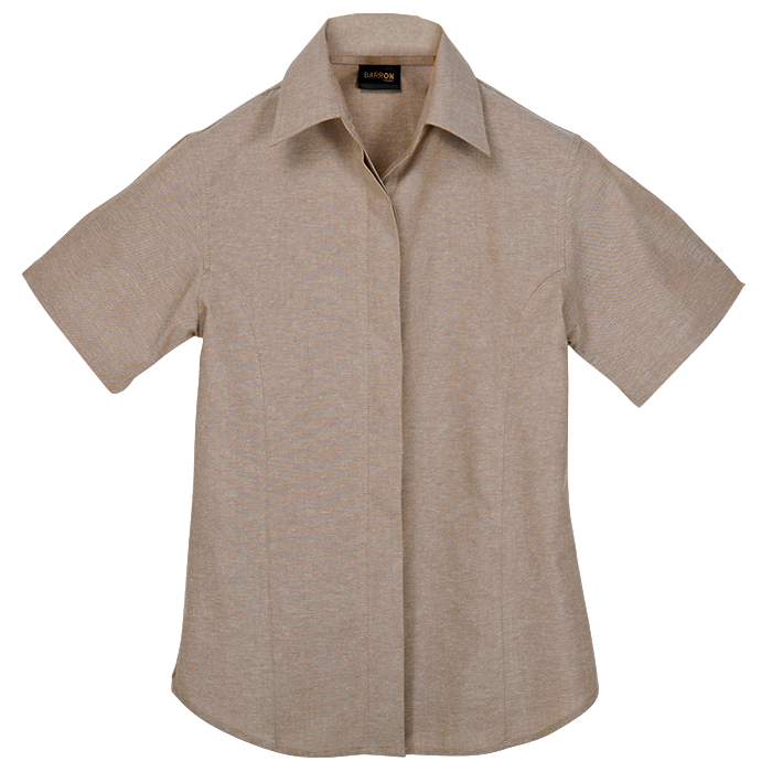 Ladies Oxford Blouse Short Sleeve (LL-OX)