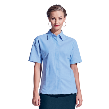 Ladies Oxford Blouse Short Sleeve