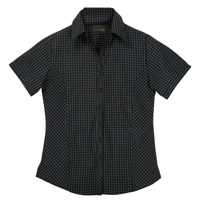 Ladies Pioneer Check Blouse Short Sleeve (LL-PI)