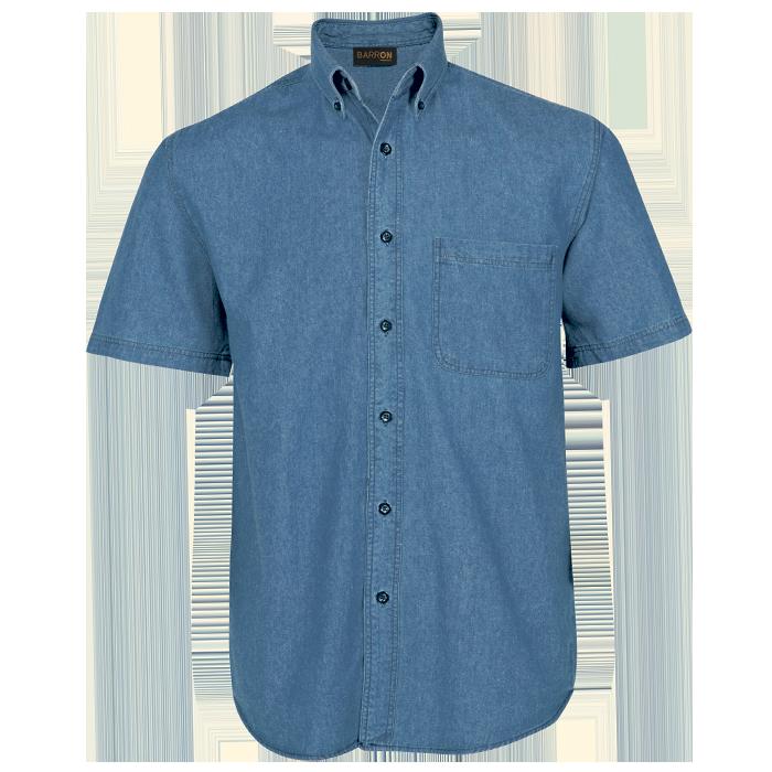 Mens Denim Shirt Short Sleeve (LO-DEN)
