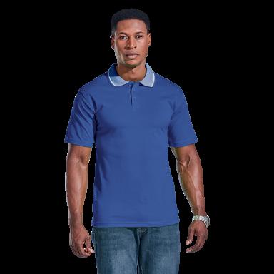 Mens Jacquard Collar Golfer