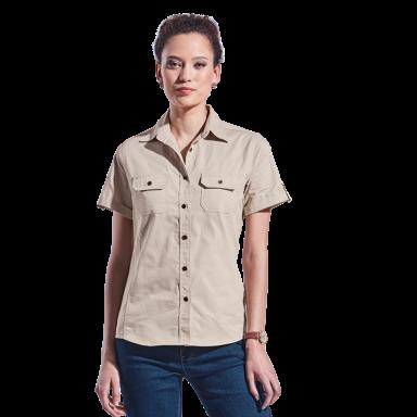 Ladies Plain Bush Shirt