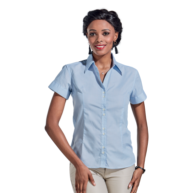 Ladies Century Blouse Short Sleeve