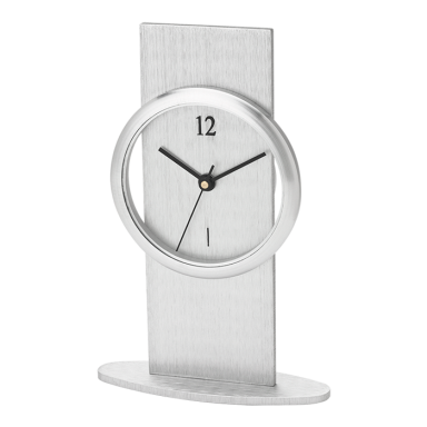 Brushed Aluminium Desk Clock