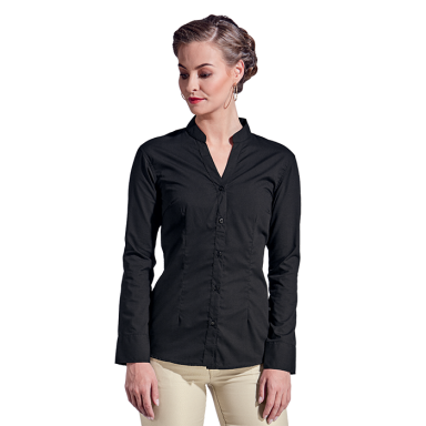 Ladies Barista Blouse Long Sleeve