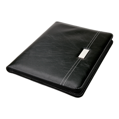 Zippered A4 Folder with Laser Plate