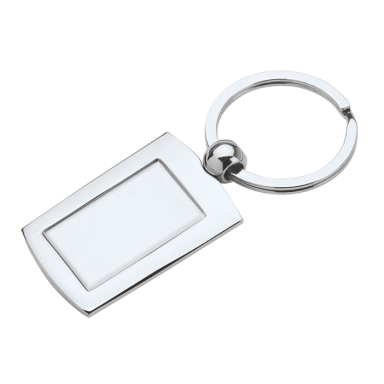 Metal Keychain with Indent for Dome