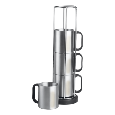 4pc 240ml Stainless Steel Mug Set