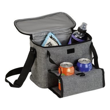 Cooler with Folding Cup Holders