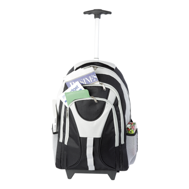 Three Front Pocket Exclusive Rolling Backpack
