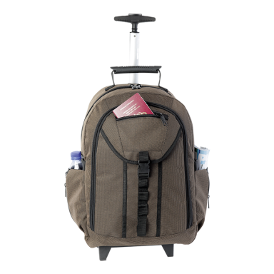 Checked Executive Rolling Backpack