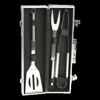 3 Piece Braai Set in Metal Carry Case
