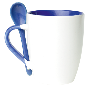 345ml Ceramic Mug with Spoon