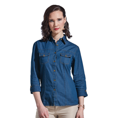 Ladies Denver Denim Blouse