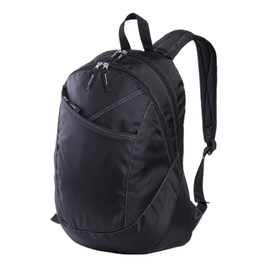 Curve Design Laptop Backpack with Silver Grey Stitching