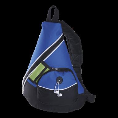Stripe Design Sling Bag with Zippered Front Pocket