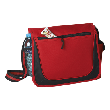 Messenger Bag with Coloured Stripe Strap