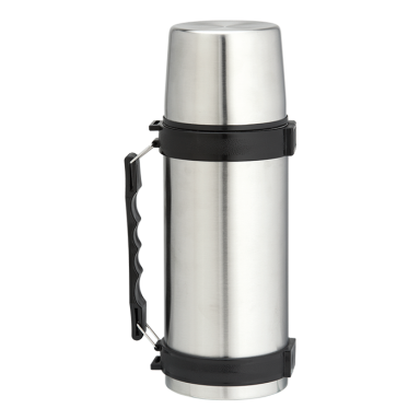 1l Stainless Steel Travel Flask with Carry Handle