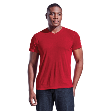 Mens Slub V Neck T-Shirt