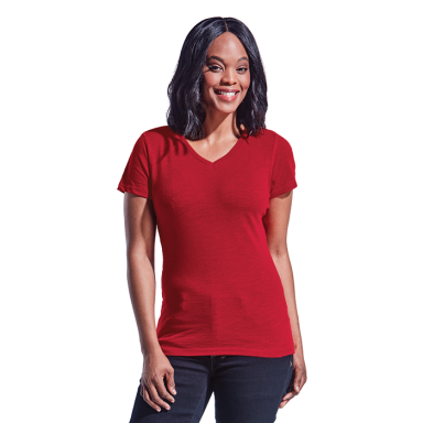 Ladies Slub V Neck T-Shirt
