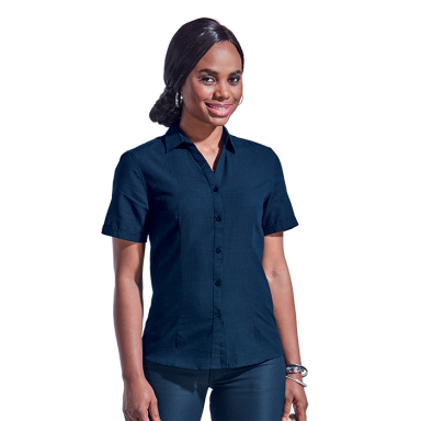 Ladies Capital Blouse Short Sleeve