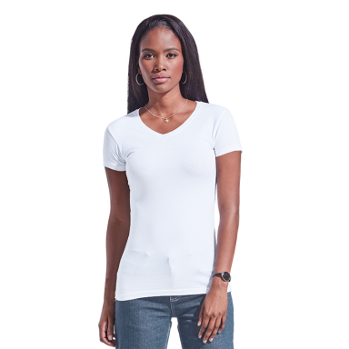 Ladies 170g Slim Fit V-Neck T-Shirt