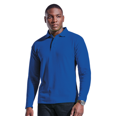 Mens 175g Pique Knit Long Sleeve Golfer