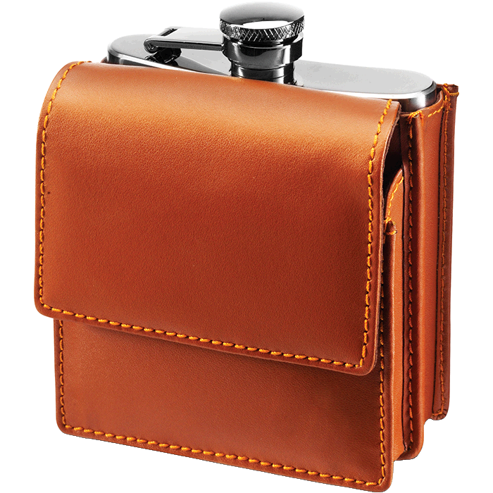 180ml Hip Flask in Belt Pouch