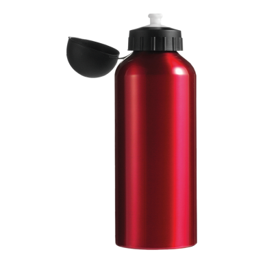 650ml Aluminium Water Bottle with Black Cap