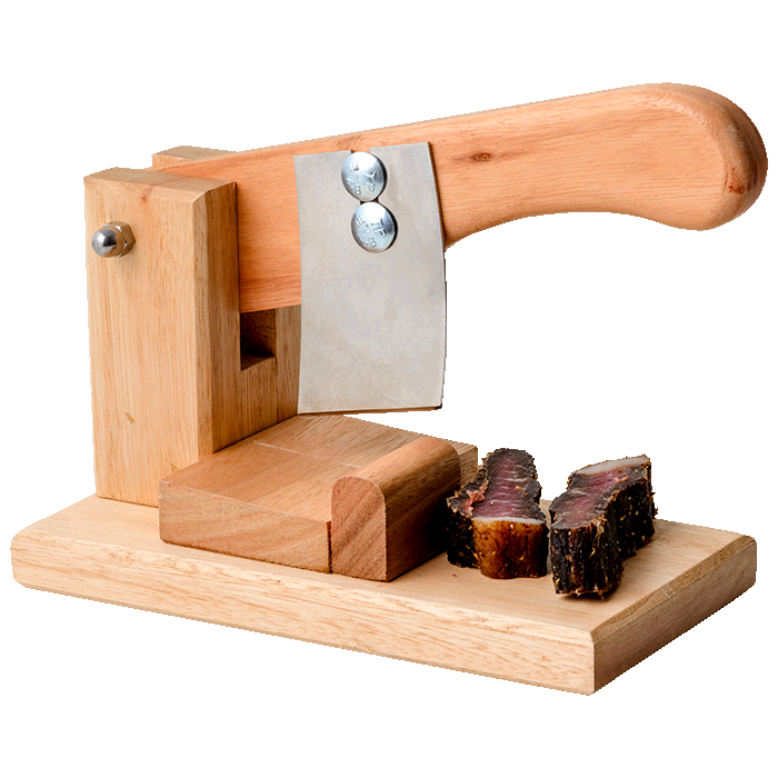 Small Wooden Biltong Cutter