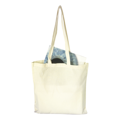 Cotton Shopper with Long Handles