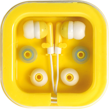Earphones in Square Case