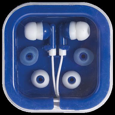 Earphones in Square Case