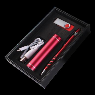 Powerbank, USB and Stylus Pen Gift Set