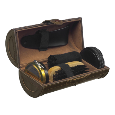 Deluxe 5 Piece Shoe Shine Kit